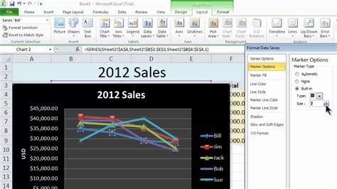 excel 2010 tutorial on youtube excel 2010 tutorial 13 line chart youtube