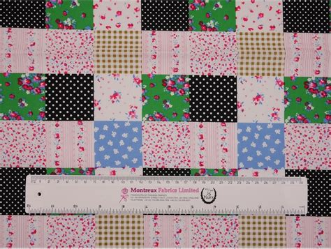 Patchwork Print Fabric - printed cotton poplin fabric patchwork