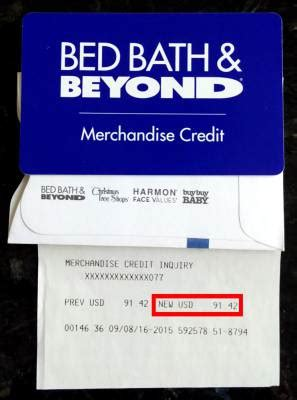 bedbathandbeyond credit card gift card receipt pictures images and photos gallery on imged