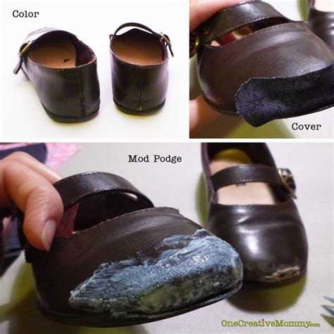how to fix scuffed leather boots pinned it made it it how to repair scuffed shoes