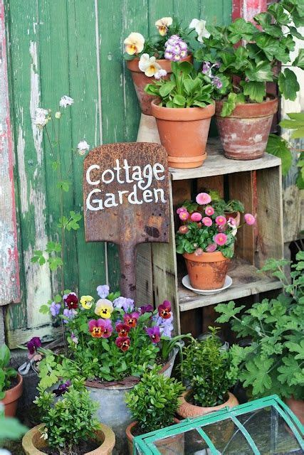 Cottage Gardening Ideas Cottage Garden Mismatching Pots Pretty Garden Small Garden Ideas Http Darlingstreet Au