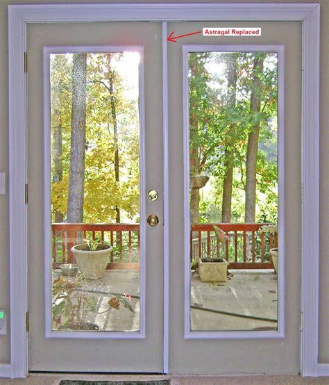 exterior door astragal how to replace an exterior door astragal