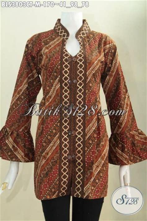 desain baju batik wanita masa kini batik blus parang klasik desain mewah berbahan halus