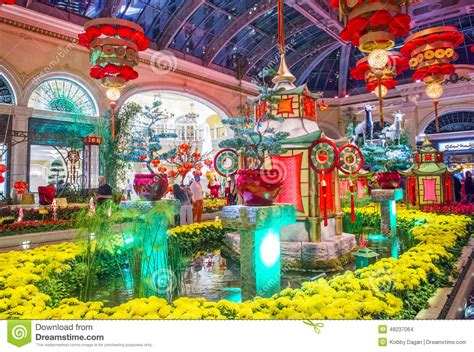 Bellagio Conservatory Botanical Gardens Bellagio Hotel Conservatory Botanical Gardens Editorial Stock Image Image Of Festival