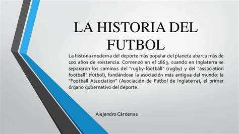 366 historias del ftbol la historia del futbol