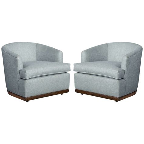 pair of midcentury modern barrel chairs for sale at 1stdibs
