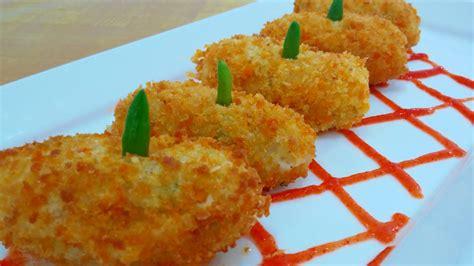 resep membuat donat kentang isi croquette with beef floss recipe resep kroket kentang