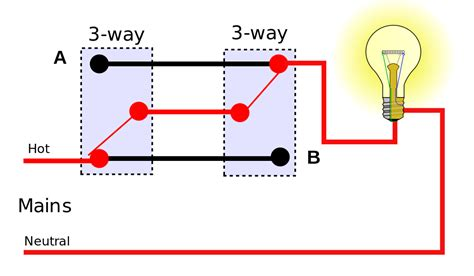 Three Way Switch Connection Diagram