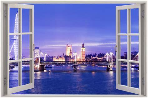3d Sticker London by London View From Window Www Pixshark Images
