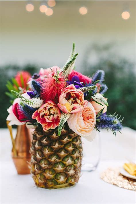 Funky Pineapple Decor For Your Summertime Wedding