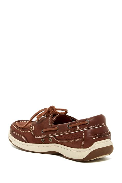 tommy bahama captain two tone leather boat shoe in brown - Tommy Bahama Captain Boat Shoes