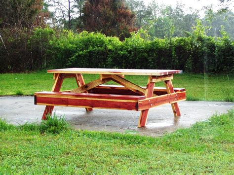 picnic tables custom built from red cedar or redwood 479