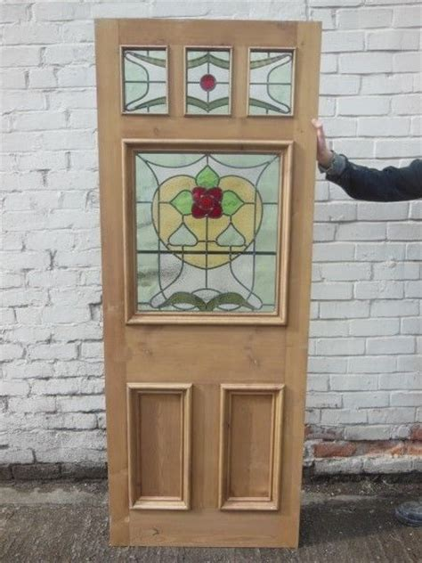 Reclaimed Front Doors Edwardian Reclaimed Front Exterior Door Stained Glass Nouv Jersey Ebay