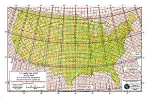 us map with grid grid reference system