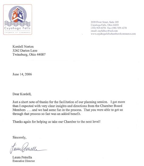 recommendation letter for facilitator recommendation