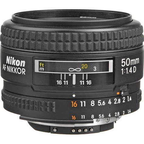 50mm lens nikon af nikkor 50mm f 1 4d lens 1902 b h photo