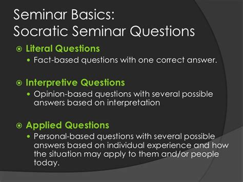 using socratic seminar as an assessment