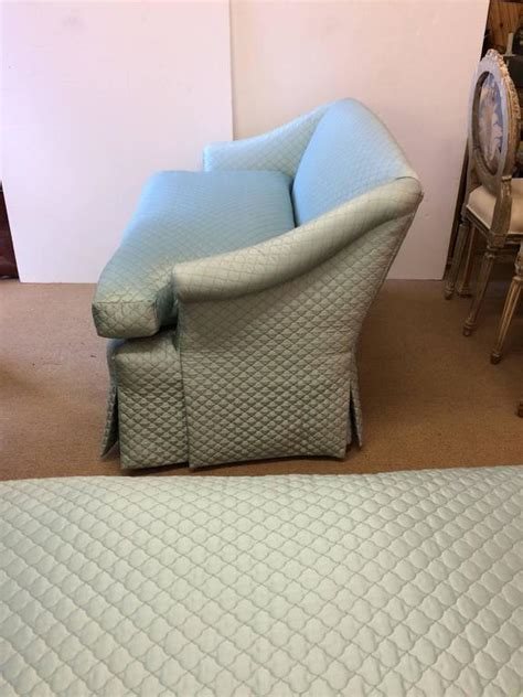 tiffany star couch movie star glam pair of tiffany blue silk quilted antique
