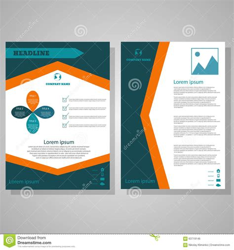 vector brochure flyer design layout template in a4 size brochure flyer design layout template size a4 stock