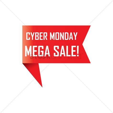 cyber monday desk sale cyber monday sale ribbon vector image 1799014