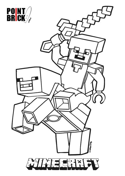 minecraft easter coloring page disegni da colorare lego minecraft steve riding piggy