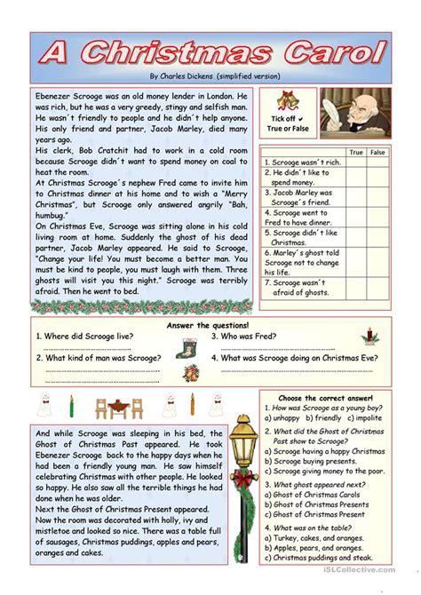 printable version christmas carol quot a christmas carol quot simplified version key included