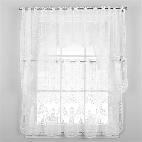 lace curtains bed bath and beyond heritage lace 174 lighthouse window curtain tier and valance