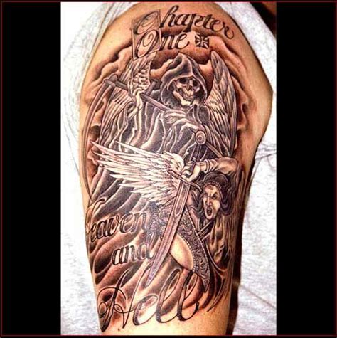 hell tattoos designs heaven and hell tattoos designs