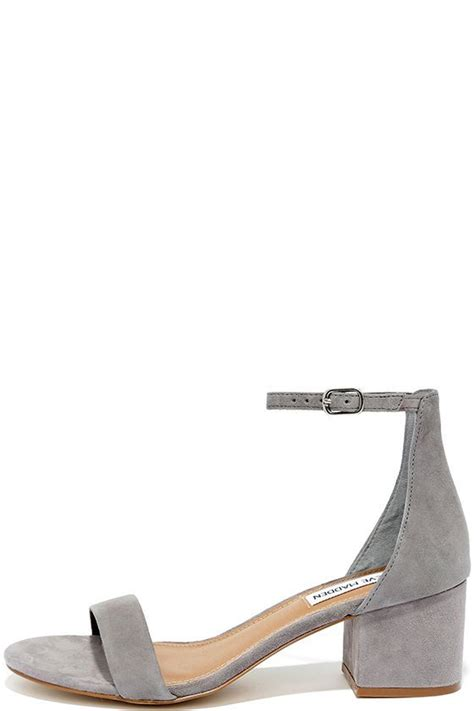 Steve Madden Irenee by Steve Madden Irenee Grey Suede Leather Ankle Heels
