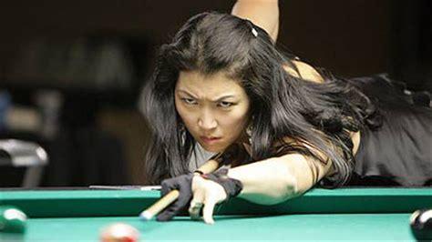 Meja Billiard Black Widow jeanette joins billiards cast pool lessons