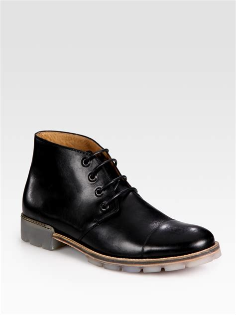 marc mens boots marc chukka boots in black for lyst