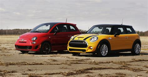 2014 fiat 500 abarth vs 2014 mini cooper s standing