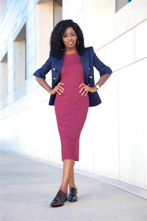 10 Ways To Wear A Blazer A Guide From Your Favorite by Style Pantry Breasted Blazer T Shirt Midi Dress