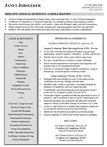 Surgical Resume by Resume Sle For Surgical Technician Technologist