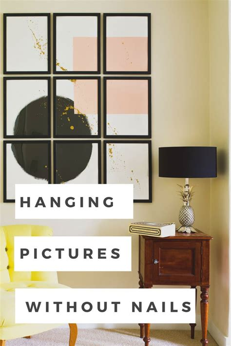 how to hang wall art without nails the 25 best ideas about hanging pictures without nails on