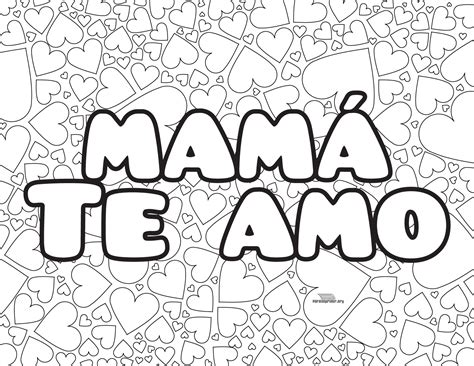 te amo mam 225 colouring pages