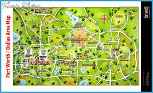 dallas fort worth map tourist attractions travel map