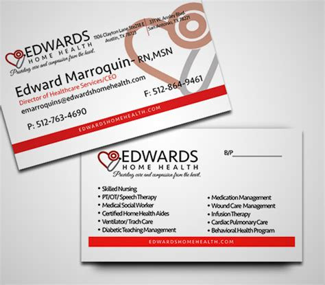 Home Health Care Business Card Template by 20 Designs Of Business Cards For Doctors Naldz