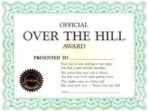 Joke Certificate Templates by Joke Certificate Official The Hill Award