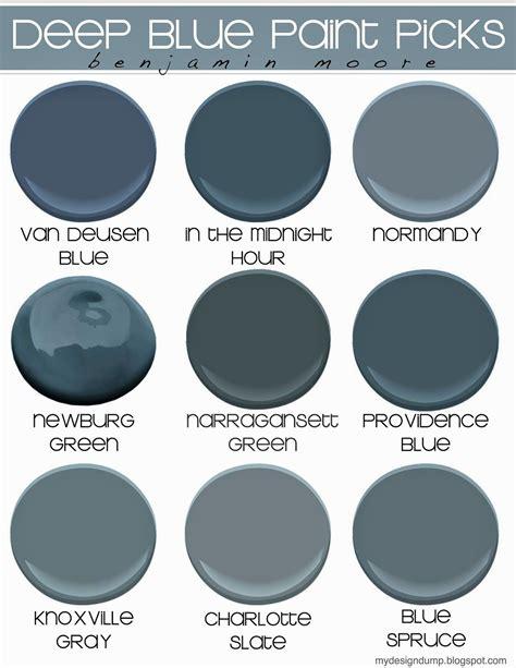 blue moody blue paint picks benjamin design dump styling benjamin
