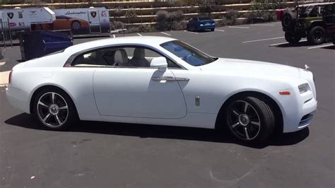 shooting a white rolls royce wraith