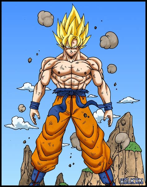 San Goku goku ssj power by dbzwarrior on deviantart