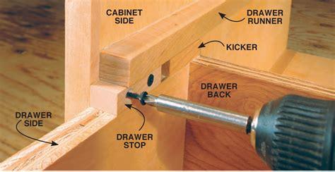 install dresser drawer stops tool cabinet popular woodworking magazine