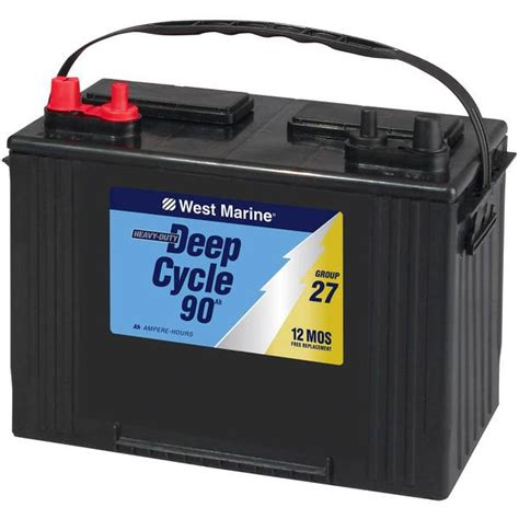 boat battery mca west marine deep cycle flooded marine battery 90