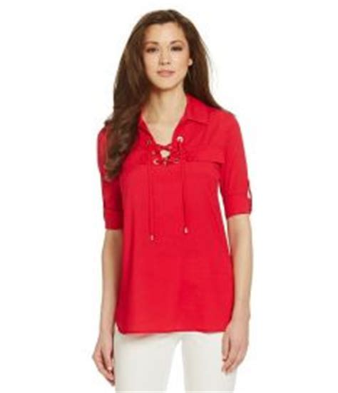 Calvin Klein Blouses At Dillards by Lace Up Blouse Fashion Ql