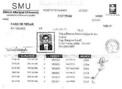Sikkim Manipal Mba Program by Mba Degree Sikkim Manipal Mba Degree Certificate