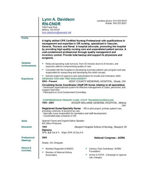 resume templates for nurses nursing cv templates free new calendar template site