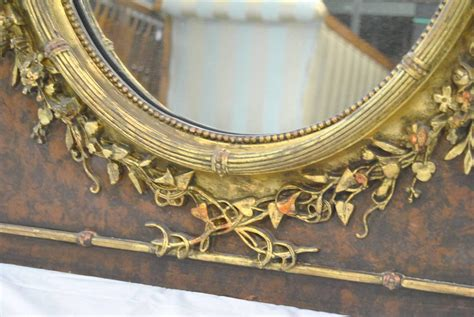 victorian dresser with oval mirror victorian oval mirror with high relief floral detail and