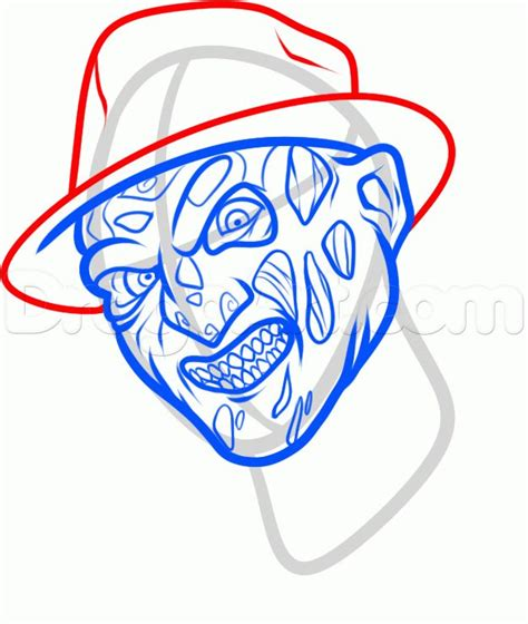 draw freddy krueger easy step  step characters