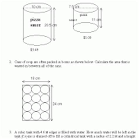 view printable area word volume and surface area word problems